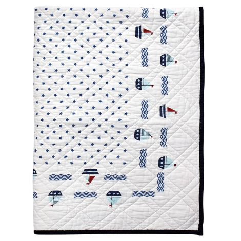GreenGate Quilt Tagesdecke für Kinder Noah White 120x120cm