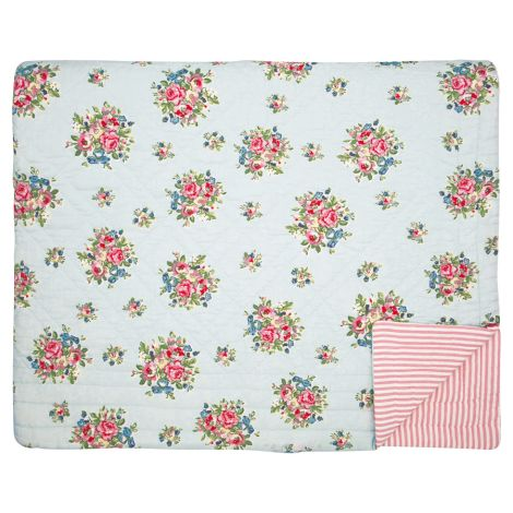 GreenGate Quilt Tagesdecke Franka Pale Blue