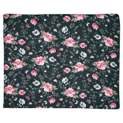 GreenGate Quilt Tagesdecke Meadow Black
