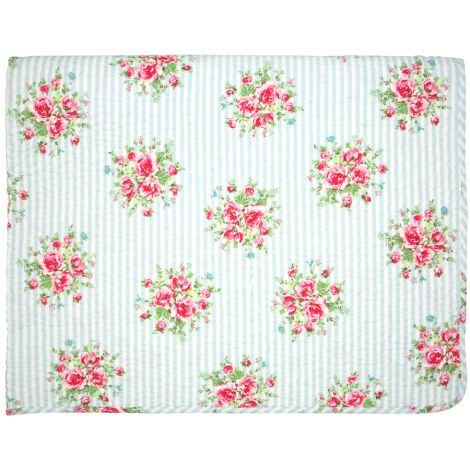 GreenGate Quilt Tagesdecke Nellie Pale Blue 140x220cm