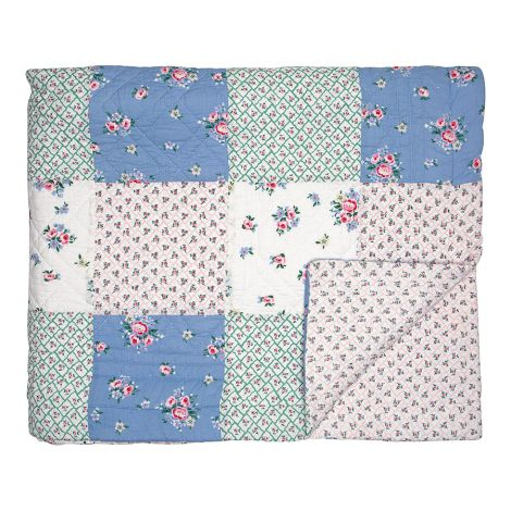 GreenGate Quilt Tagesdecke Nicoline White Patchwork