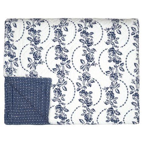 GreenGate Quilt Fleur Blue