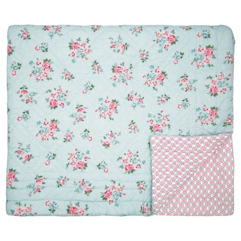 GreenGate Quilt Tagesdecke Sonia Pale Blue 140 x 220 cm