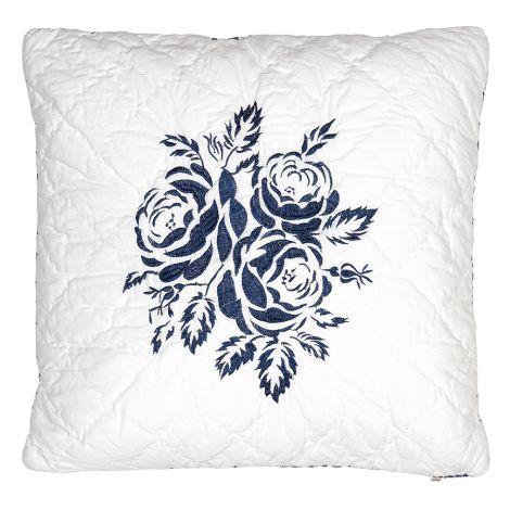 GreenGate Kissenhülle Fleur Blue Embroidery 40x40