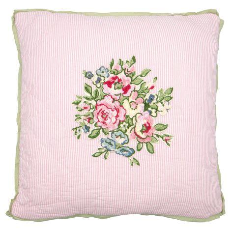 GreenGate Kissenhülle Franka Pale Pink Bestickt 40x40cm