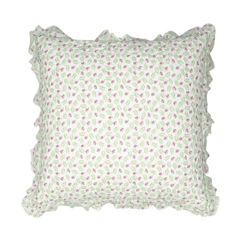 GreenGate Kissenhülle Lily Petit White mit Rüsche 50x50cm