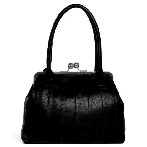 Sticks and Stones Ledertasche Ravello Black Washed