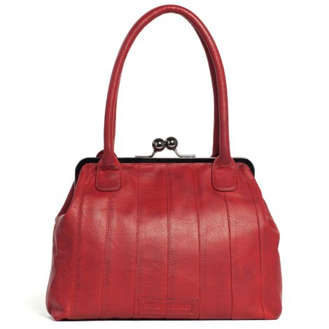 Sticks and Stones Ledertasche Ravello Cherry Red Washed