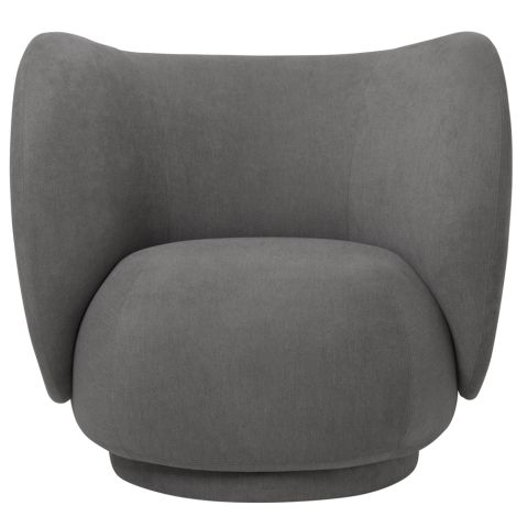 ferm LIVING Lounge Chair Rico Brushed Grey
