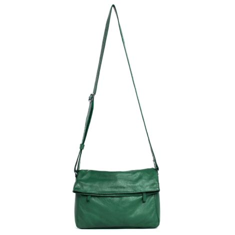 Sticks and Stones Ledertasche Salvador Forest Green Washed •