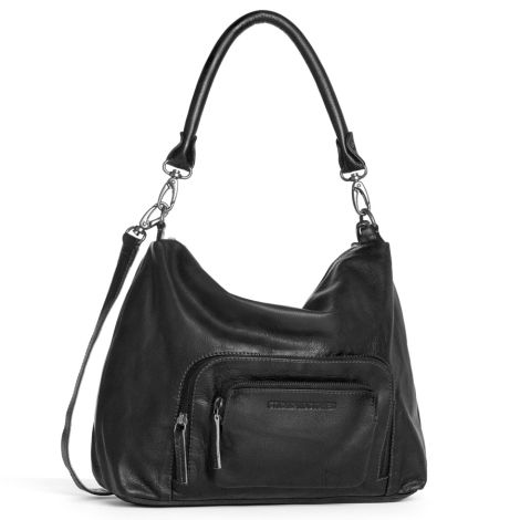 Sticks and Stones Ledertasche San Diego Anthracite Washed •