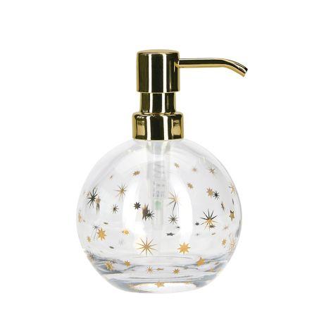 Miss Étoile Seifenspender Glas Gold Stars •