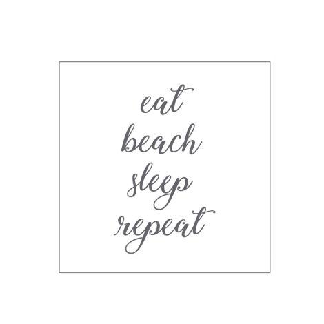 Krasilnikoff Papierserviette eat, beach, sleep, repeat