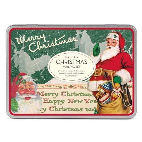 Cavallini Mailing Set Santa Claus