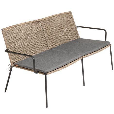 MUUBS Sofa 2-Sitzer Riva Outdoor Walnut/Black