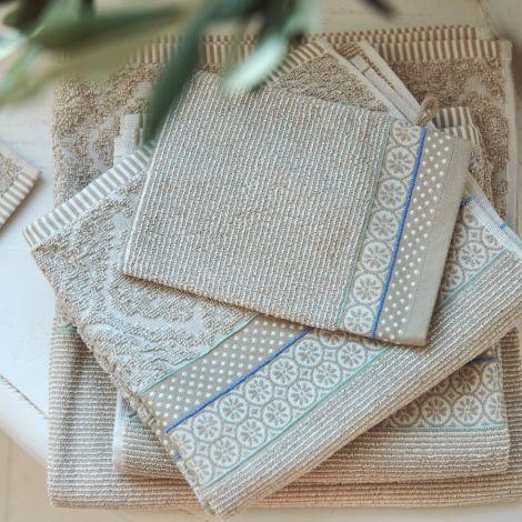 PIP Studio Handtücher Soft Zellige Khaki Handtuch: 55 x 100 cm