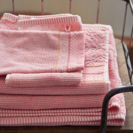 PIP Studio Handtücher Soft Zellige Pink • Waschhandschuh: 16 x 22 cm