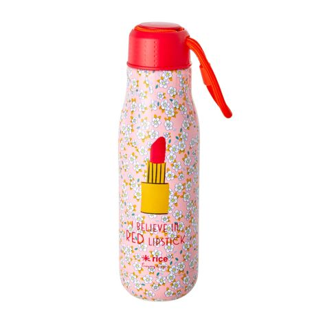 Rice Trinkflasche Edelstahl Small Flower and Lipstick 500 ml