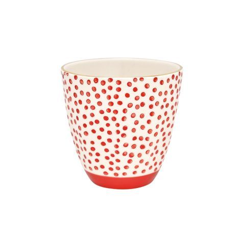 GreenGate Porzellan Becher Dot Red/Gold