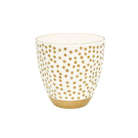 GreenGate Porzellan Becher Dot Gold