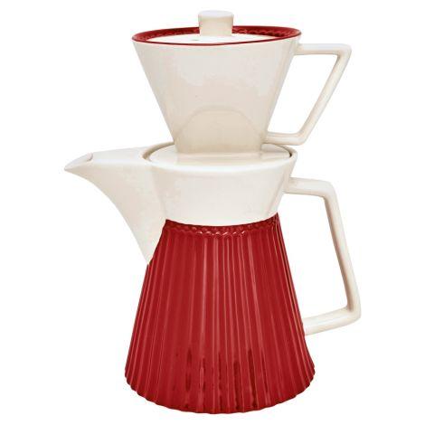 GreenGate Kaffeekanne mit Filter Alice Red