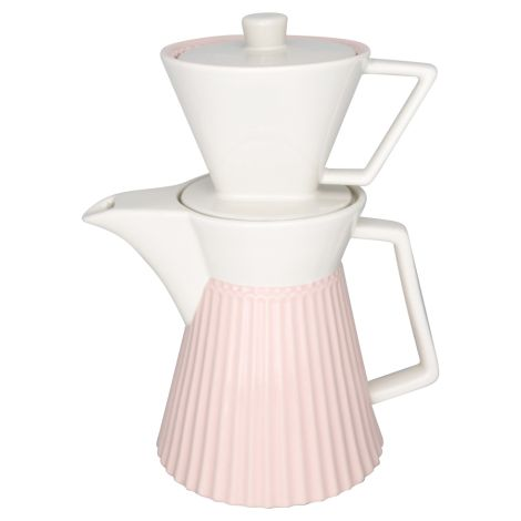 GreenGate Kaffeekanne mit Filter Alice Pale Pink