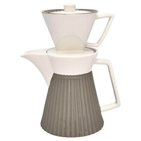 GreenGate Kaffeekanne mit Filter Alice Warm Grey