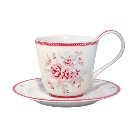 GreenGate Teetasse Flora White •