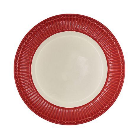 GreenGate großer Porzellan Teller Alice Red 26 cm