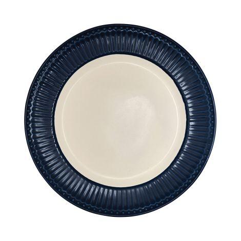 GreenGate großer Porzellan Teller Alice Dark Blue 26 cm
