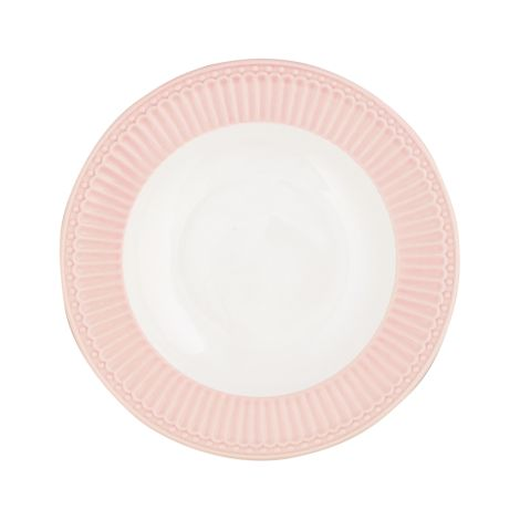 GreenGate Porzellan Suppenteller Alice Pale Pink 21 cm
