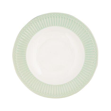 GreenGate Porzellan Suppenteller Alice Pale Green 21 cm