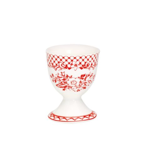 GreenGate Porzellan Eierbecher Stephanie Red •