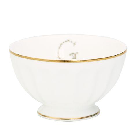 GreenGate Porzellan French Bowl G Gold Medium