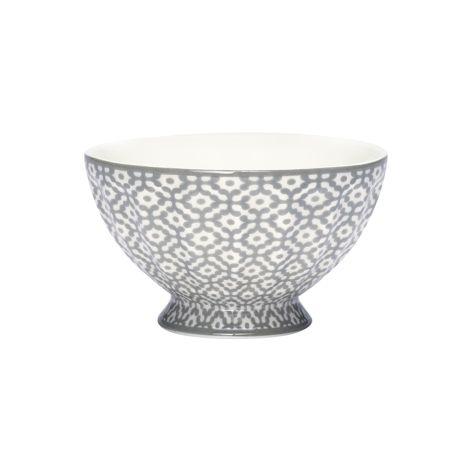 GreenGate French Bowl Jasmina Warm Grey M •