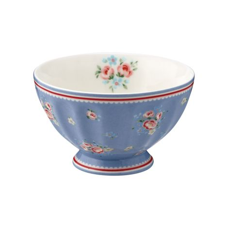 GreenGate French Bowl Nicoline Dusty Blue M
