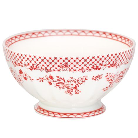 GreenGate Porzellan French Bowl Stephanie Red XL