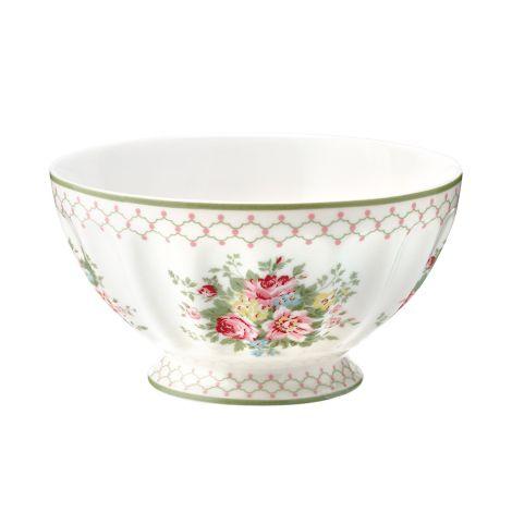 GreenGate French Bowl Aurelia White XL •