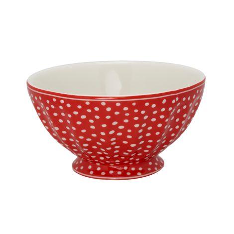 GreenGate French Bowl XL Dot Red