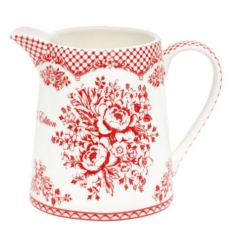 GreenGate Porzellan Krug Stephanie Red 0,5 Liter •