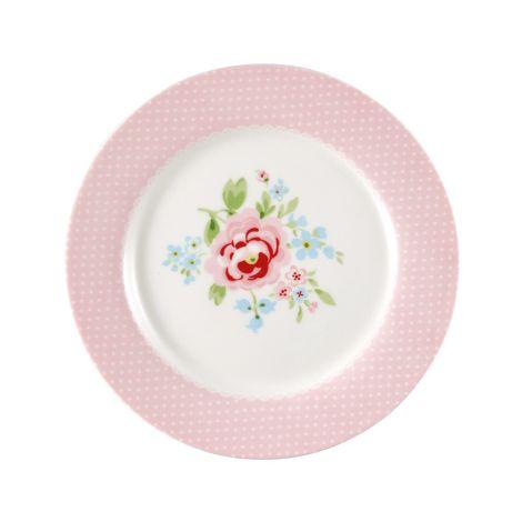 GreenGate Teller für Kinder Meryl Pale Pink 20 cm