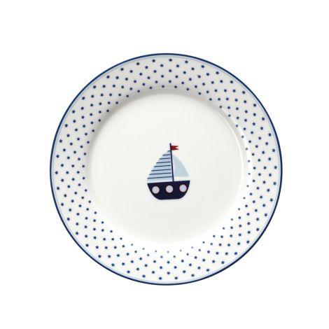 GreenGate Teller für Kinder Noah Blue 20 cm