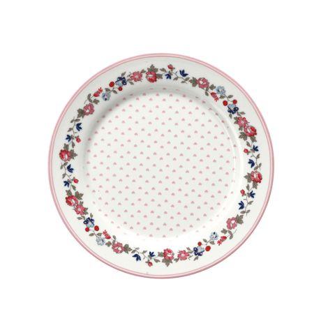 GreenGate Teller für Kinder Ruby Petit White 20 cm