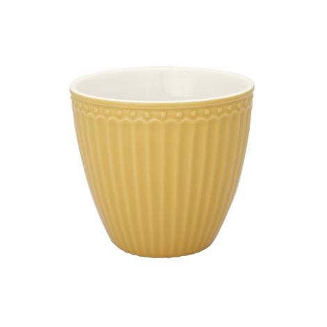 GreenGate Latte Cup Becher Alice Honey Mustard
