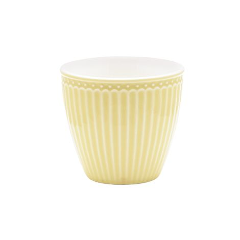 GreenGate Latte Cup Becher Alice Pale Yellow