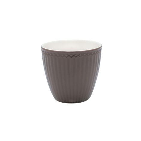 GreenGate Latte Cup Becher Alice Dark Chocolate