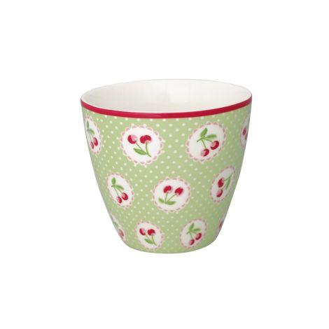 GreenGate Latte Cup Becher Cherry Berry Green