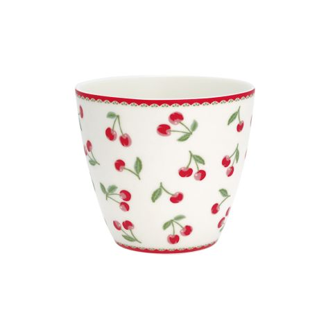 GreenGate Latte Cup Becher Cherry White