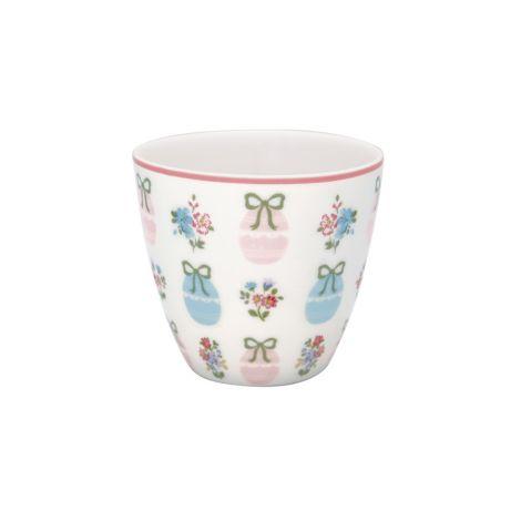 GreenGate Latte Cup Becher Elsie White