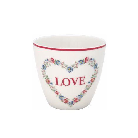GreenGate Latte Cup Becher Heart Love White
